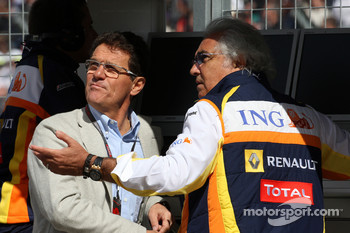 Fabio Capello England Football team manager, Flavio Briatore, Renault F1 Team, Team Chief, Managing Director
