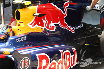 Sebastian Vettel, Red Bull Racing engine cover