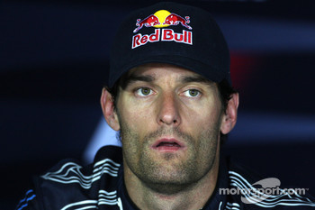 Press conference: second place Mark Webber, Red Bull Racing