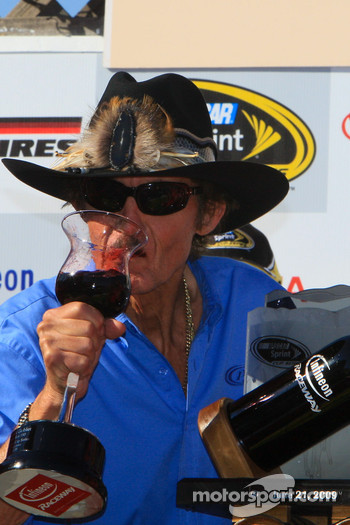 Victory lane: Richard Petty celebrates win