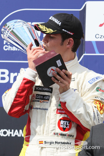 Podium, Sergio Hernandez, BMW Team Italy-Spain, BMW 320si