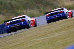#55 CRS Racing Ferrari 430 GT2: Chris Niarchos, Tim Mullen, #56 CRS Racing Ferrari 430 GT2: Andrew Kirkaldy, Rob Bell