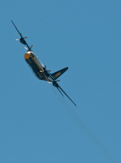 Blue Angel's Fat Albert fly-over
