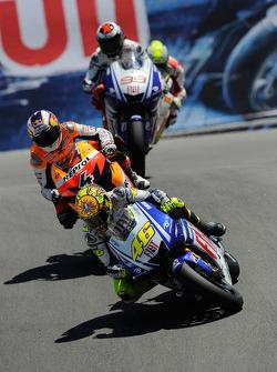 Valentino Rossi, Fiat Yamaha Team, Andrea Dovizioso, Repsol Honda Team, Jorge Lorenzo, Fiat Yamaha Team