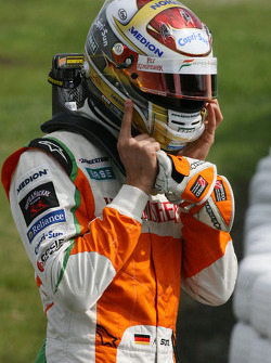 Adrian Sutil, Force India F1 Team stops on track during first free practice