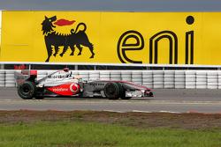 Lewis Hamilton, McLaren Mercedes spins off the track