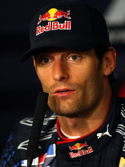 FIA press conference: Mark Webber, Red Bull Racing