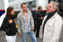 Felix Sturm and his wife talking with Keke Rosberg