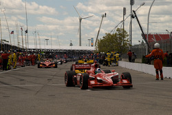 Dario Franchitti, Target Chip Ganassi Racing heads to pace laps