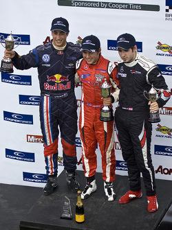 Podium: race winner Riki Christodoulou, second place Daniel Ricciardo, third place Walter Grubmuller