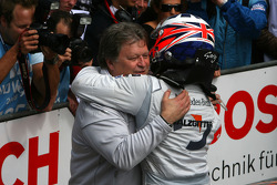 Norbert Haug, Sporting Director Mercedes-Benz, congratulating Gary Paffett, Team HWA AMG Mercedes