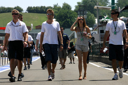 Jenson Button, Brawn GP and his girlfriend Jessica Michibata