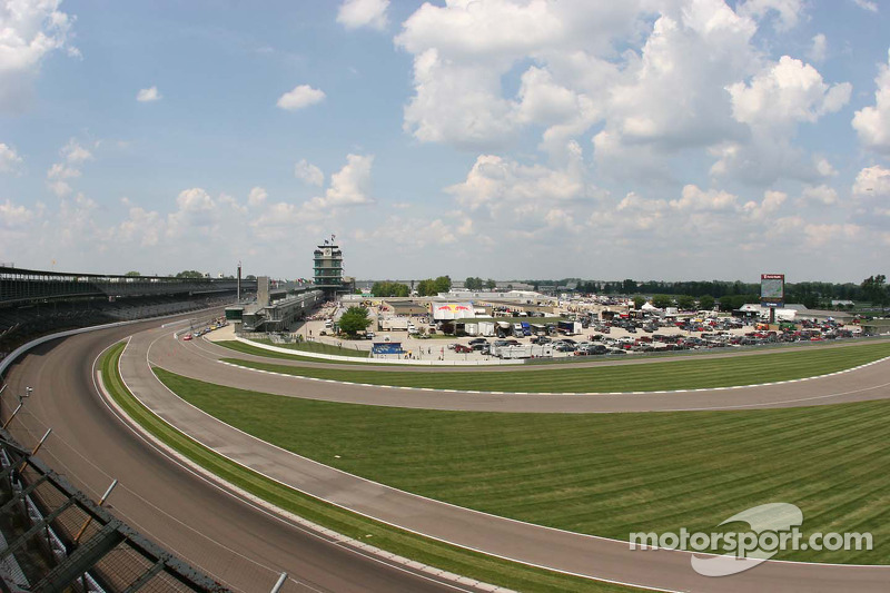 The garage area at the Indianapolis Motor Speedway