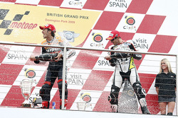 Podium: race winner Andrea Dovizioso, Repsol Honda Team, second place Colin Edwards, Monster Yamaha Tech 3
