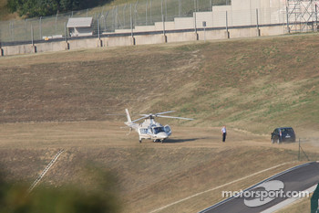 Michael Schumacher, Scuderia Ferrari, arrives at the track
