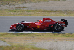 Michael Schumacher, Scuderia Ferrari, tests the F2007 in preparation for his comeback