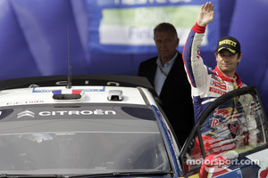 Podium: second place Sebastien Loeb