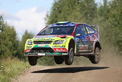 Mikko Hirvonen and Jarmo Lehtinen, BP Ford Abu Dhabi World Rally Team Ford Focus RS WRC08