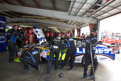 Casey Mears, Richard Childress Racing Chevrolet has a word with Jimmie Johnson, Hendrick Motorsports Chevrolet