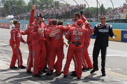 Stewart-Haas Racing Chevrolet crew members celebrate