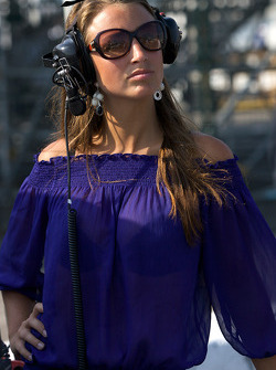The lovely girlfriend of Frederic Vervisch, Genoa Racing