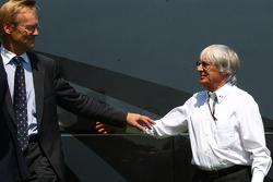 Ari Vatanen and Bernie Ecclestone, President and CEO of Formula One Management