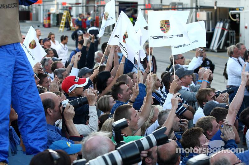 Post-race celebrations