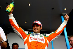 Giancarlo Fisichella, Force India F1 Team, VJM-02, Pole Position