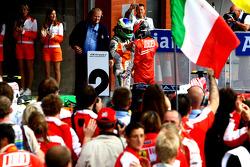 Winner, 1st, Kimi Raikkonen, Scuderia Ferrari and 2nd, Giancarlo Fisichella, Force India F1 Team, VJM-02