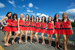 The charming Budweiser girls