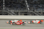 Ryan Briscoe, Team Penske; Scott Dixon, Target Chip Ganassi Racing; and Helio Castroneves, Team Penske