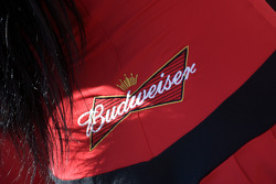 A lovely Budweiser girl