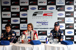 Robert Wickens, Andy Soucek and Mirko Bortolotti in the post qualifying press conference