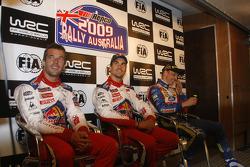 Press conference: Sébastien Loeb, Daniel Sordo and Mikko Hirvonen