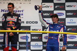 Mikhail Aleshin and Julien Jousse on the podium