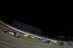 Clint Bowyer, driver of the #33 leads the field at the start of