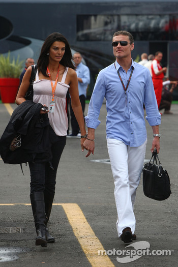 David Coulthard, Red Bull Racing, Consultant and his wife Karen