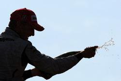 Podium: second place Jenson Button, BrawnGP