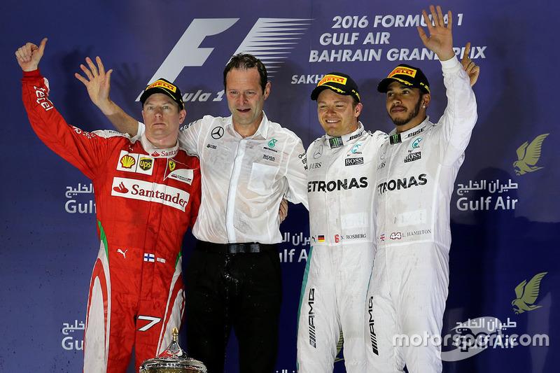 1. Nico Rosberg, 2. Kimi Räikkönen, 3. Lewis Hamilton