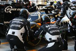 Sahara Force India F1 Team mechanics practice pit stops