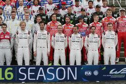 Porsche Team: Brendon Hartley; Mark Webber; Timo Bernhard; Romain Dumas; Neel Jani; Marc Lieb