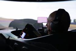 Fabien Barthez in the simulator