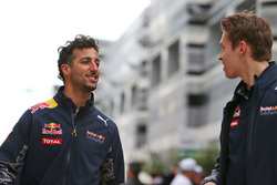 Daniel Ricciardo, Red Bull Racing with team mate Daniil Kvyat, Red Bull Racing