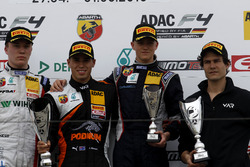 Podium: second place Simo Laaksonen, Motopark; Winner Joseph Mawson, Van Amersfoort Racing ; third place Nicklas Nielsen, Neuhauser Racing