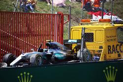 Болід Mercedes AMG F1 W07 Hybrid дляНіко Росберга, Mercedes AMG F1 повертається назад в бокси на вантажівці