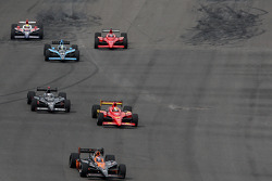 Danica Patrick, Andretti Green Racing leads Graham Rahal, Newman/Haas/Lanigan Racing and Marco Andretti, Andretti Green Racing