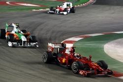 Giancarlo Fisichella, Scuderia Ferrari and Vitantonio Liuzzi, Force India F1 Team