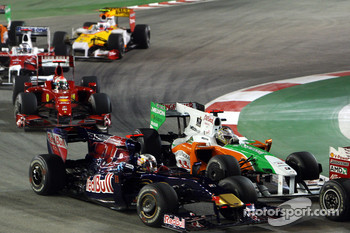Sebastian Vettel, Red Bull Racing, Adrian Sutil, Force India F1 Team