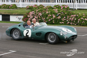 Stirling Moss with the Aston Martin DBR2