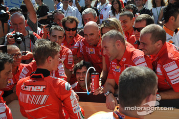 Second place Casey Stoner, Ducati Marlboro Team